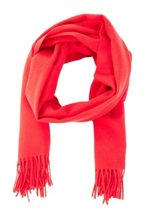 Красный шерстяной шарф Moncler