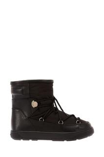 Комбинированные черные ботинки Moncler
