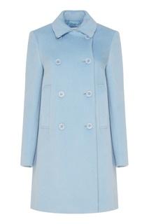 Фактурное голубое пальто RED Valentino