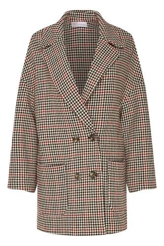Свободное пальто с контрастным узором