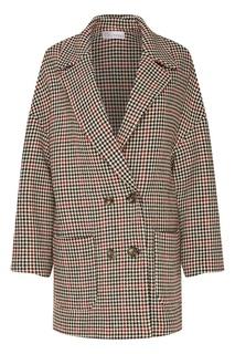 Свободное пальто с контрастным узором RED Valentino