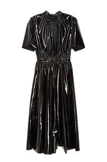 Черное виниловое платье Msgm