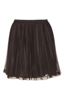 Черная мини-юбка с сеткой RED Valentino