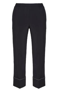 Шерстяные брюки с блестящей отделкой No.21