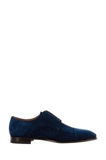 Синие замшевые туфли Christian Louboutin