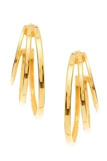 Золотистые серьги с геометрическим дизайном Asya Copine Jewelry