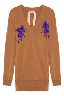 Шерстяной пуловер с пайетками No.21