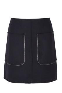 Мини-юбка с накладными карманами No.21