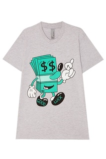 Серая футболка с долларом Jeremyville