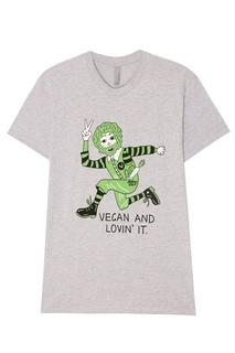 Серая меланжевая футболка с принтом Jeremyville
