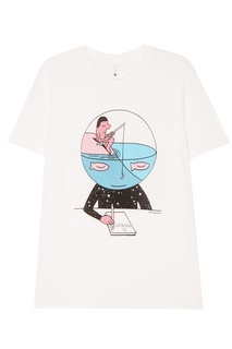 Белая футболка с принтом Jeremyville