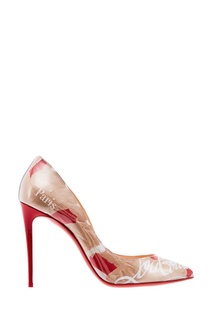 Туфли с текстовым принтом Pigalle Follies 100 Christian Louboutin