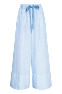 Широкие брюки из хлопка Fendi
