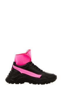 Черные кроссовки с цветными вставками Joshua Sanders