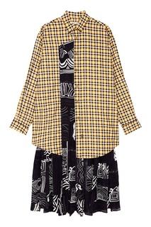 Шелковое платье-рубашка Balenciaga
