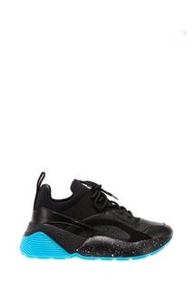 Черные кроссовки с блестящей отделкой Stella Mc Cartney