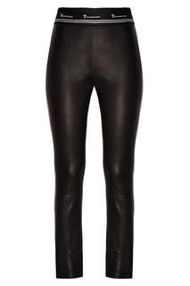 Кожаные брюки с эластичным поясом T by Alexander Wang