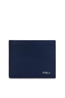 Кожаный кошелек синего цвета Marte Furla