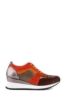 Кожаные кроссовки с шелком School 77