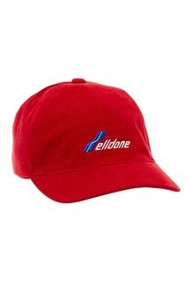 Красная бейсболка с логотипом We11 Done