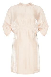 Короткое платье с объемными рукавами Prada