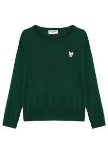 Зеленый джемпер с вышивкой Rythma Essentiel Antwerp