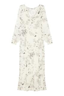 Белое платье с принтом Ren Essentiel Antwerp