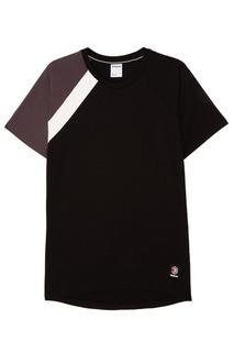 Черная футболка с контрастной отделкой Reebok