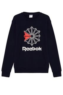 Синий свитшот с логотипом Reebok