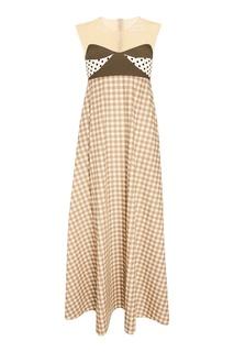 Платье с комбинированным дизайном Kuraga
