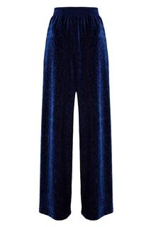 Синие брюки с эластичным поясом Mm6 Maison Margiela