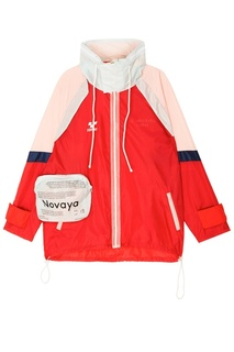 Красная ветровка с объемным карманом Novaya