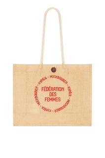 Холщовая сумка с текстовым принтом Kuraga