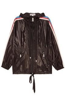 Черная ветровка с полосками на рукавах Marc Jacobs