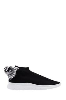 Черные текстильные кроссовки Diamond Joshua Sanders