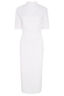 Белое платье в мелкий горошек Kuraga
