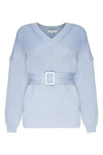 Голубой пуловер с поясом Akhmadullina Dreams
