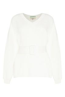 Белый пуловер с поясом Akhmadullina Dreams