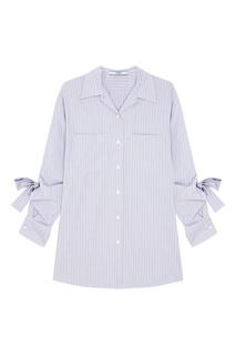 Рубашка с завязками на рукавах Prada