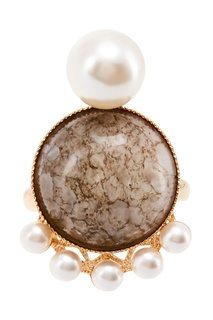 Позолоченное кольцо с инкрустацией Anton Heunis