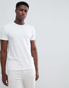 Белая обтягивающая футболка из органического хлопка Esprit - Белый