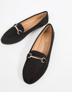 Черные туфли на плоской подошве RAID - Черный