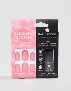 Матовые накладные ногти Elegant Touch Nail Saviour Velvety Rose - Розовый