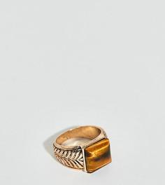 Кольцо с камнем тигровый глаз Uncommon Souls - Золотой
