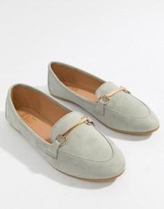 Серые туфли на плоской подошве с отделкой RAID Viera - Серый