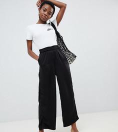 Широкие брюки с эластичным поясом Vero Moda Petite - Черный