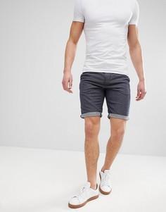 Узкие шорты чиносы со шнурком Tom Tailor - Синий
