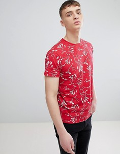 Красная футболка с принтом Solid - Красный