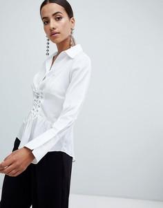 66f327b0d75 Рубашки с открытыми плечами женские - купить в интернет-магазинах ...