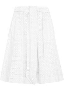 Кружевная юбка-миди с поясом Lisa Marie Fernandez